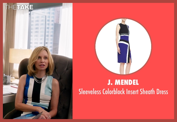 J. Mendel blue dress from Supergirl seen with Cat Grant (Calista Flockhart)