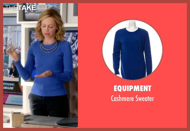 Equipment blue sweater from Supergirl seen with Cat Grant (Calista Flockhart)
