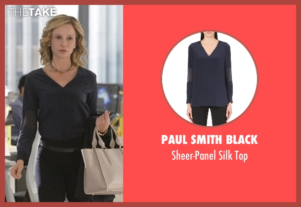 Paul Smith Black blue top from Supergirl seen with Cat Grant (Calista Flockhart)