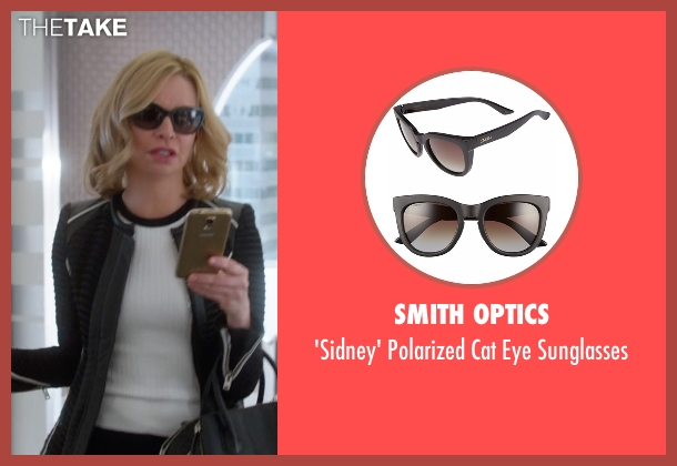 Smith Optics brown sunglasses from Supergirl seen with Cat Grant (Calista Flockhart)