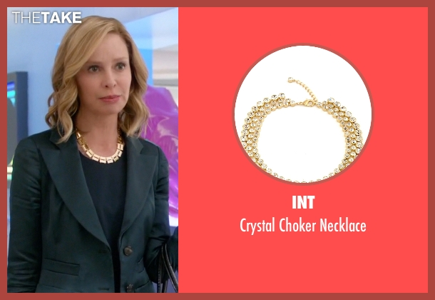 Int gold necklace from Supergirl seen with Cat Grant (Calista Flockhart)
