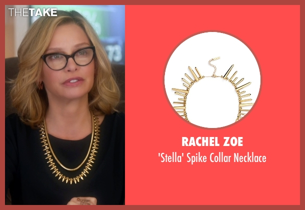 Rachel Zoe gold necklace from Supergirl seen with Cat Grant (Calista Flockhart)