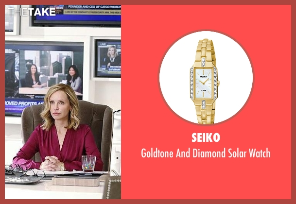 Seiko gold watch from Supergirl seen with Cat Grant (Calista Flockhart)