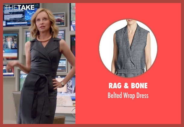 Rag & Bone gray dress from Supergirl seen with Cat Grant (Calista Flockhart)