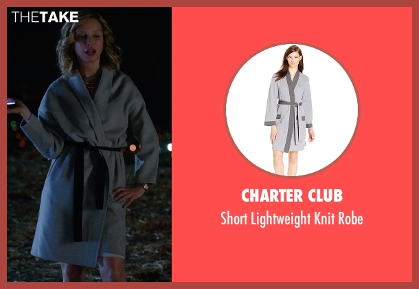 Charter Club gray robe from Supergirl seen with Cat Grant (Calista Flockhart)