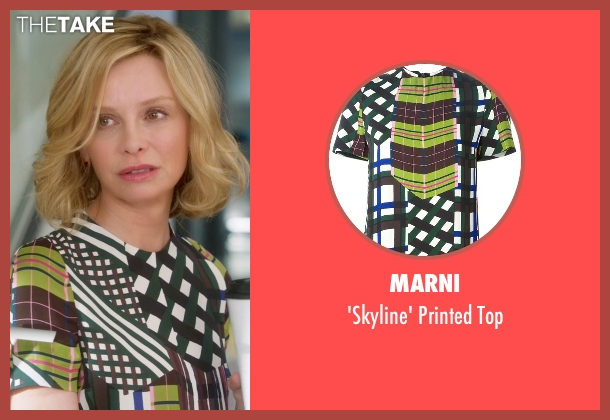 Marni green top from Supergirl seen with Cat Grant (Calista Flockhart)