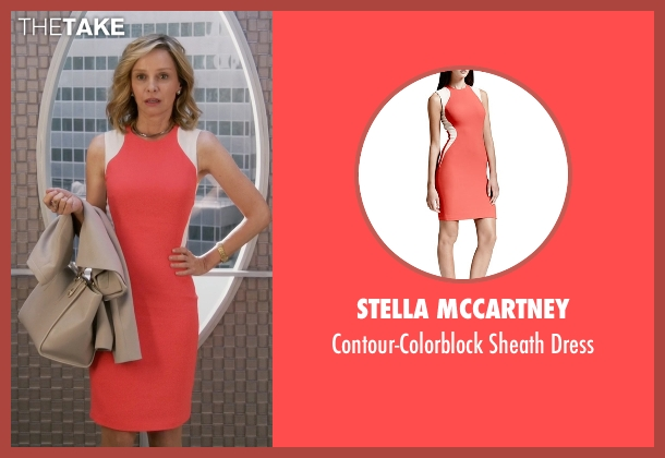 Stella McCartney orange dress from Supergirl seen with Cat Grant (Calista Flockhart)