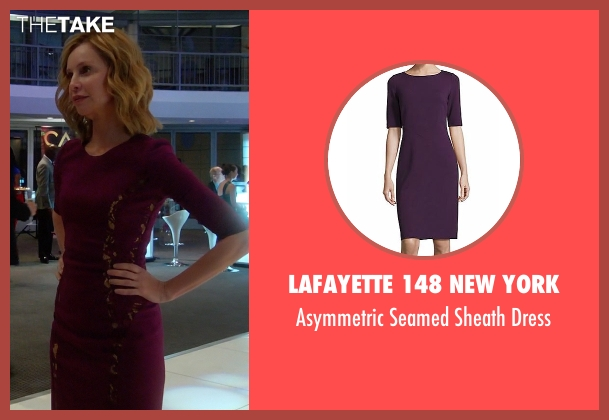 Elie Tahari purple dress from Supergirl seen with Cat Grant (Calista Flockhart)