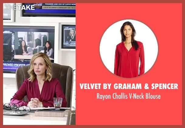 Velvet by Graham & Spencer red blouse from Supergirl seen with Cat Grant (Calista Flockhart)