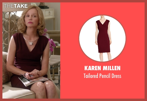 Karen Millen red dress from Supergirl seen with Cat Grant (Calista Flockhart)