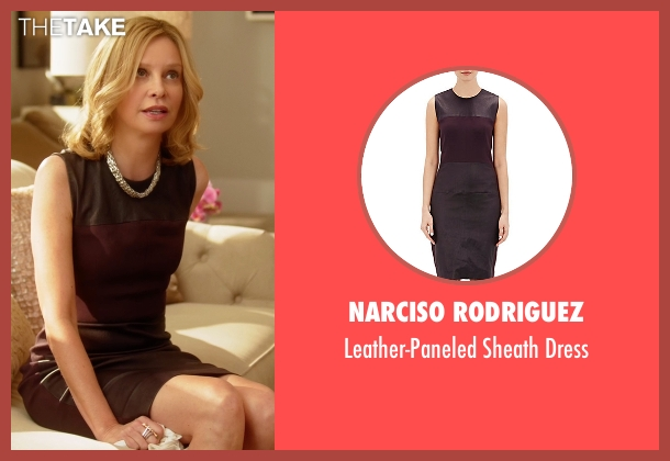 Narciso Rodriguez red dress from Supergirl seen with Cat Grant (Calista Flockhart)