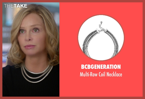 Bcbgeneration silver necklace from Supergirl seen with Cat Grant (Calista Flockhart)