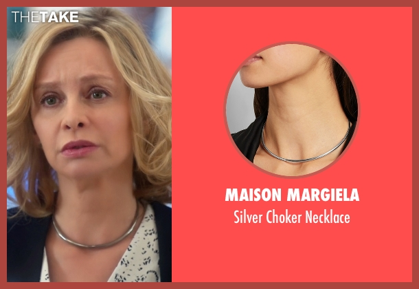 Maison Margiela silver necklace from Supergirl seen with Cat Grant (Calista Flockhart)