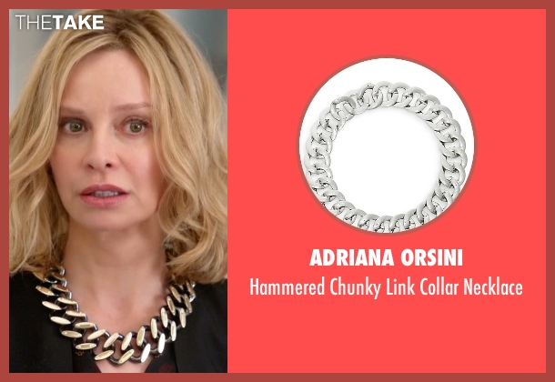 Adriana Orsini  silver necklace from Supergirl seen with Cat Grant (Calista Flockhart)