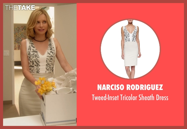 Narciso Rodriguez white dress from Supergirl seen with Cat Grant (Calista Flockhart)
