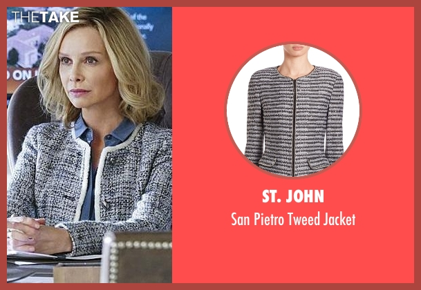 St. John white jacket from Supergirl seen with Cat Grant (Calista Flockhart)