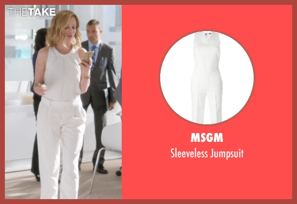 MSGM white jumpsuit from Supergirl seen with Cat Grant (Calista Flockhart)