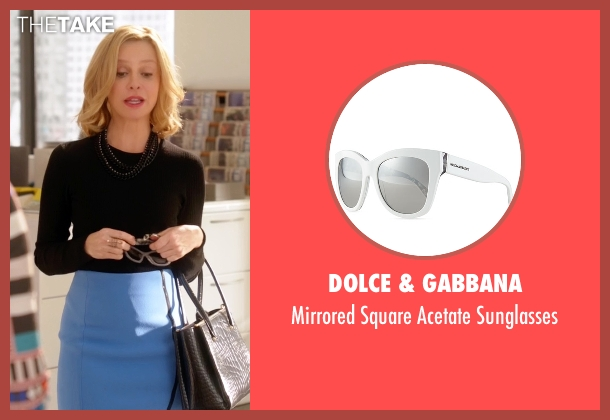 Dolce & Gabbana  white sunglasses from Supergirl seen with Cat Grant (Calista Flockhart)