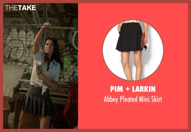 PIM + LARKIN black skirt from Brick Mansions seen with Catalina Denis (Lola)