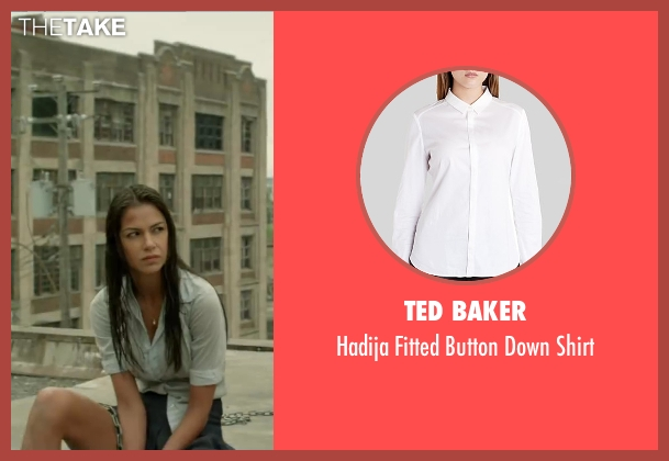 Ted Baker white shirt from Brick Mansions seen with Catalina Denis (Lola)