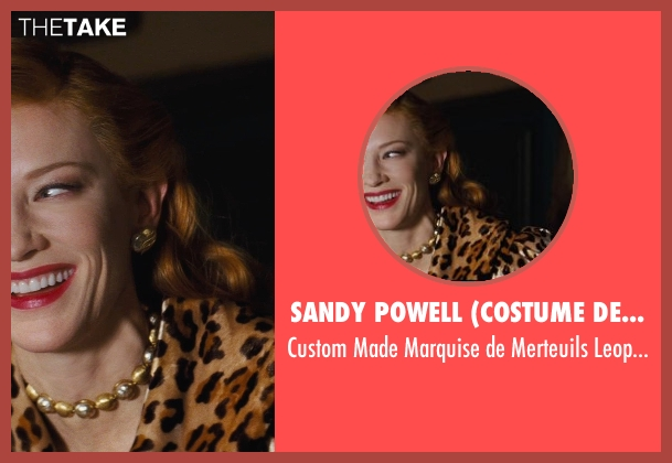 Sandy Powell (Costume Designer) brown dress from Cinderella seen with Cate Blanchett (Lady Tremaine)