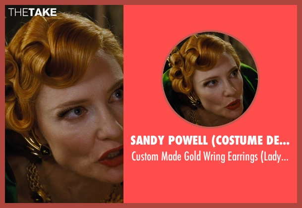 Sandy Powell (Costume Designer) earrings from Cinderella seen with Cate Blanchett (Lady Tremaine)