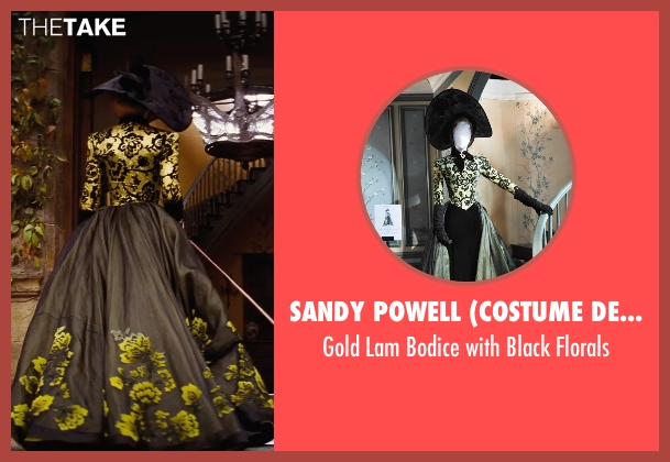 Sandy Powell (Costume Designer) florals from Cinderella seen with Cate Blanchett (Lady Tremaine)