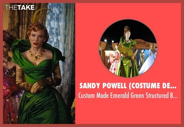 Sandy Powell (Costume Designer) gown from Cinderella seen with Cate Blanchett (Lady Tremaine)