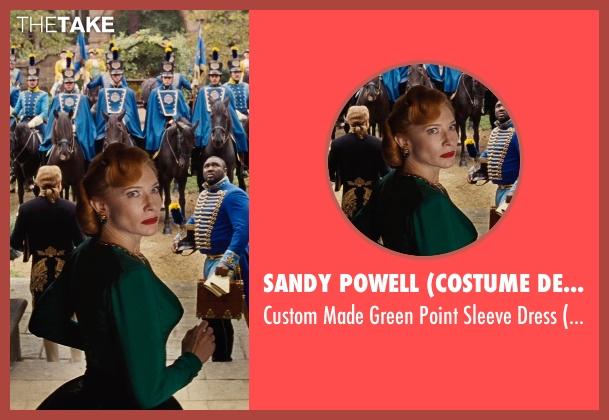 Sandy Powell (Costume Designer) green dress from Cinderella seen with Cate Blanchett (Lady Tremaine)