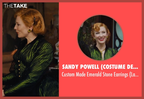 Sandy Powell (Costume Designer) green earrings from Cinderella seen with Cate Blanchett (Lady Tremaine)