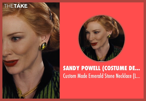 Sandy Powell (Costume Designer) green necklace from Cinderella seen with Cate Blanchett (Lady Tremaine)