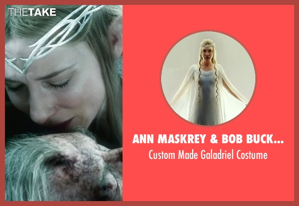 Ann Maskrey & Bob Buck (Costume Designer) costume from The Hobbit: The Battle of The Five Armies seen with Cate Blanchett (Galadriel)