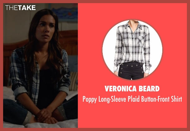 Veronica Beard black shirt from Animal Kingdom seen with Catherine (Daniella Alonso)