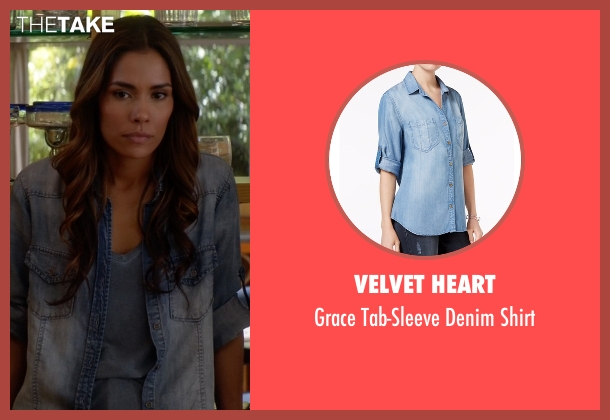 Velvet Heart blue shirt from Animal Kingdom seen with Catherine (Daniella Alonso)
