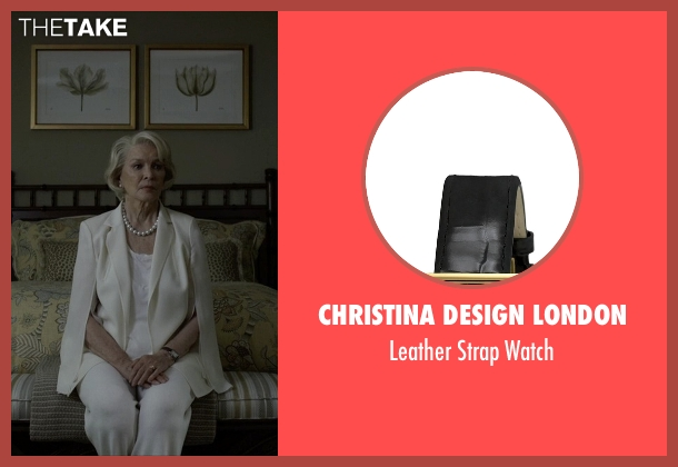 Christina Design London black watch from House of Cards seen with Catherine Durant (Jayne Atkinson)