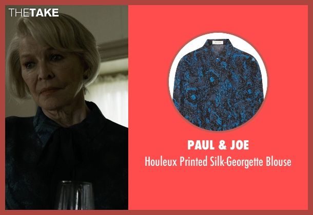 Paul & Joe blue blouse from House of Cards seen with Catherine Durant (Jayne Atkinson)
