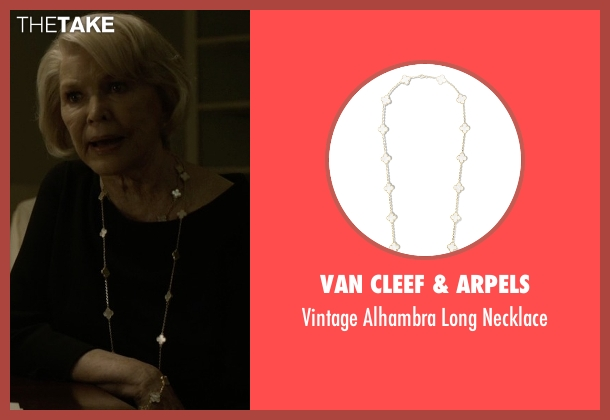 Van Cleef & Arpels gold necklace from House of Cards seen with Catherine Durant (Jayne Atkinson)