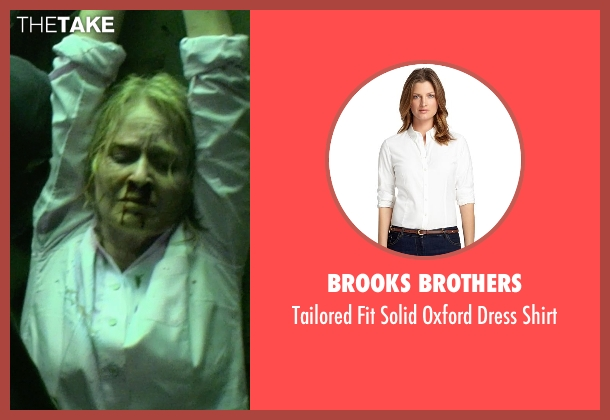 Brooks Brothers white shirt from Sabotage seen with Catherine Dyer (Karen Wharton)