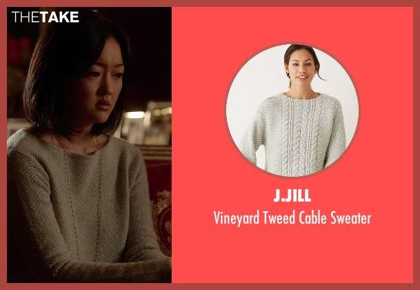 J.Jill beige sweater from How To Get Away With Murder seen with Catherine Hapstall ( Amy Okuda)