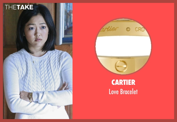 Cartier gold bracelet from How To Get Away With Murder seen with Catherine Hapstall ( Amy Okuda)