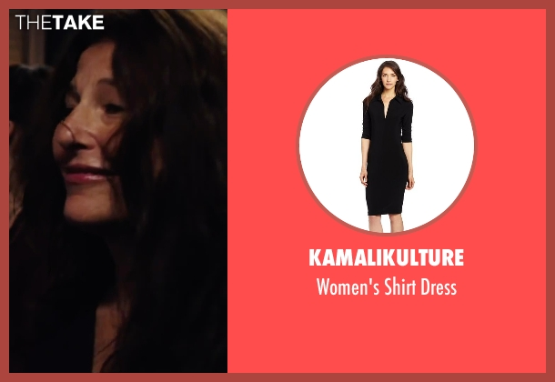Kamalikulture black dress from Begin Again seen with Catherine Keener (Miriam)