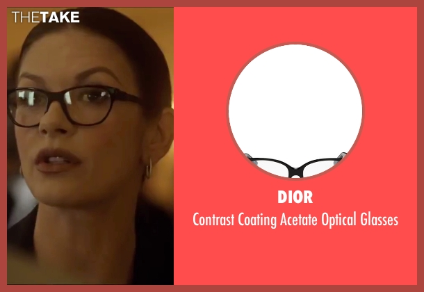 Dior black glasses from Side Effects seen with Catherine Zeta-Jones (Dr. Victoria Siebert)