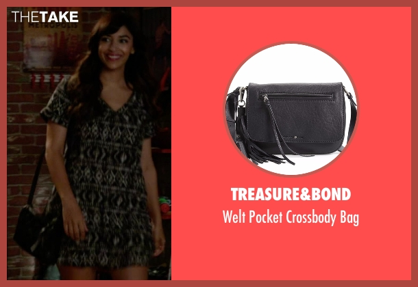 Treasure&Bond black bag from New Girl seen with Cece Parekh (Hannah Simone)