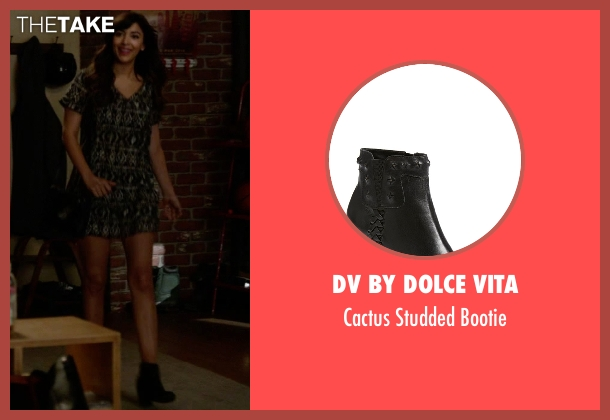 DV by Dolce Vita black bootie from New Girl seen with Cece Parekh (Hannah Simone)