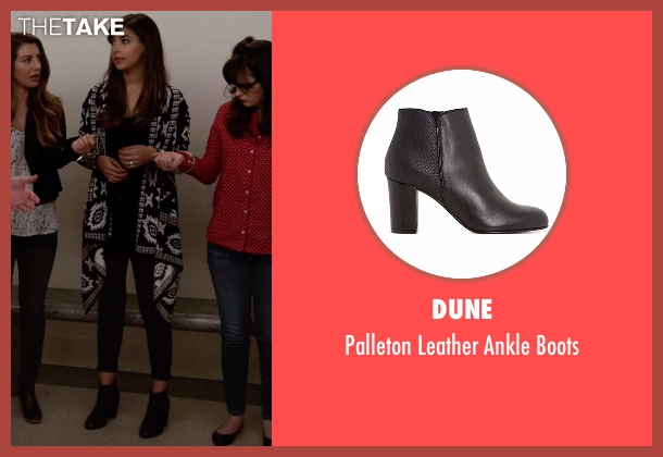 Dune black boots from New Girl seen with Cece Parekh (Hannah Simone)