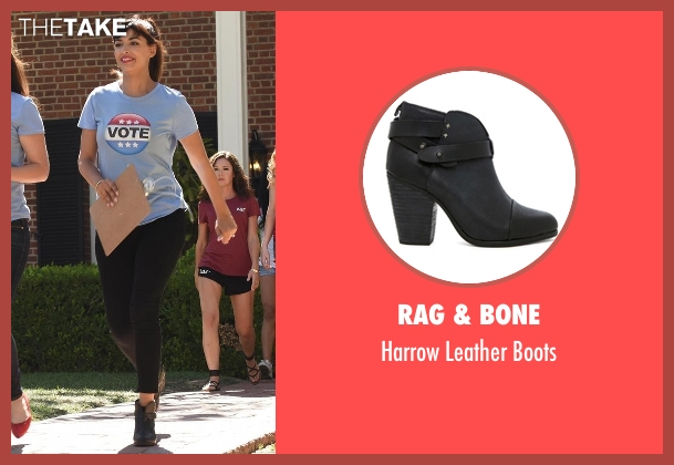 Rag & Bone black boots from New Girl seen with Cece Parekh (Hannah Simone)