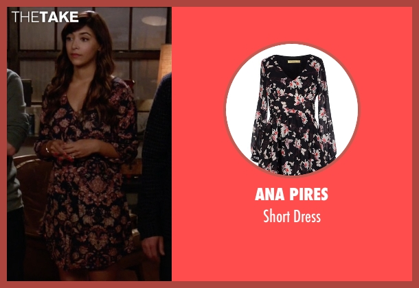 Ana Pires black dress from New Girl seen with Cece Parekh (Hannah Simone)
