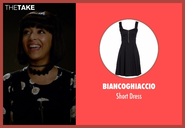 Biancoghiaccio black dress from New Girl seen with Cece Parekh (Hannah Simone)