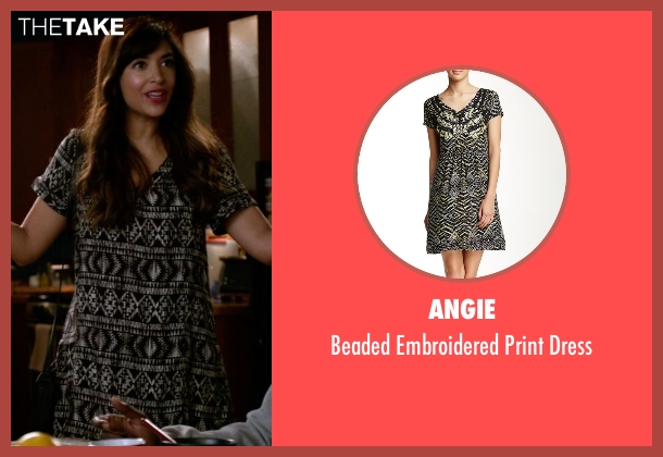 Angie black dress from New Girl seen with Cece Parekh (Hannah Simone)