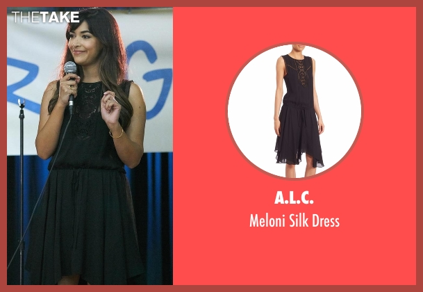 A.L.C. black dress from New Girl seen with Cece Parekh (Hannah Simone)